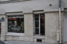 The view when coming down rue Geoffrey l'Asnier & what looks like a fourth café!