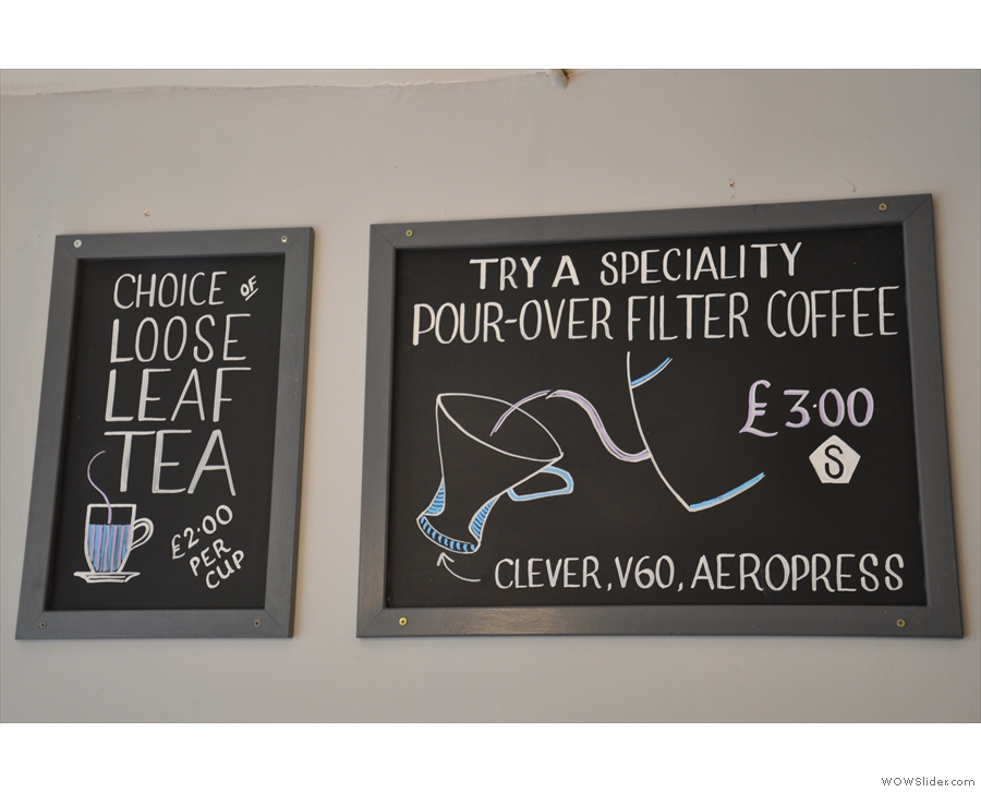 There's also tea (which the staff are just as passionate about) and pour-over.