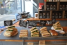 There are plenty of sandwiches... And pastries...