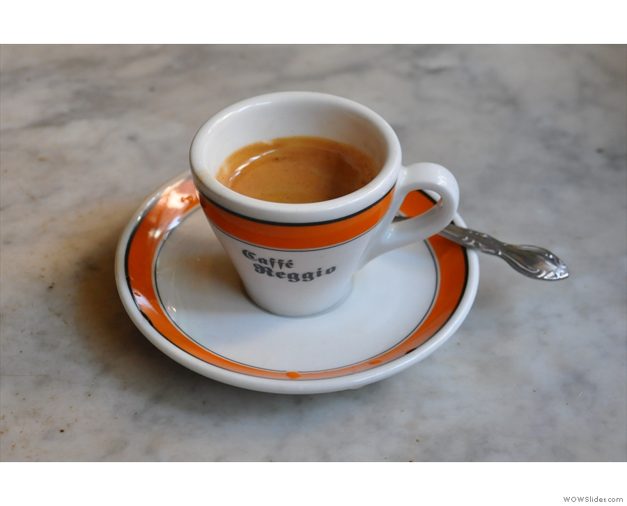 All I managed was this old-school espresso.