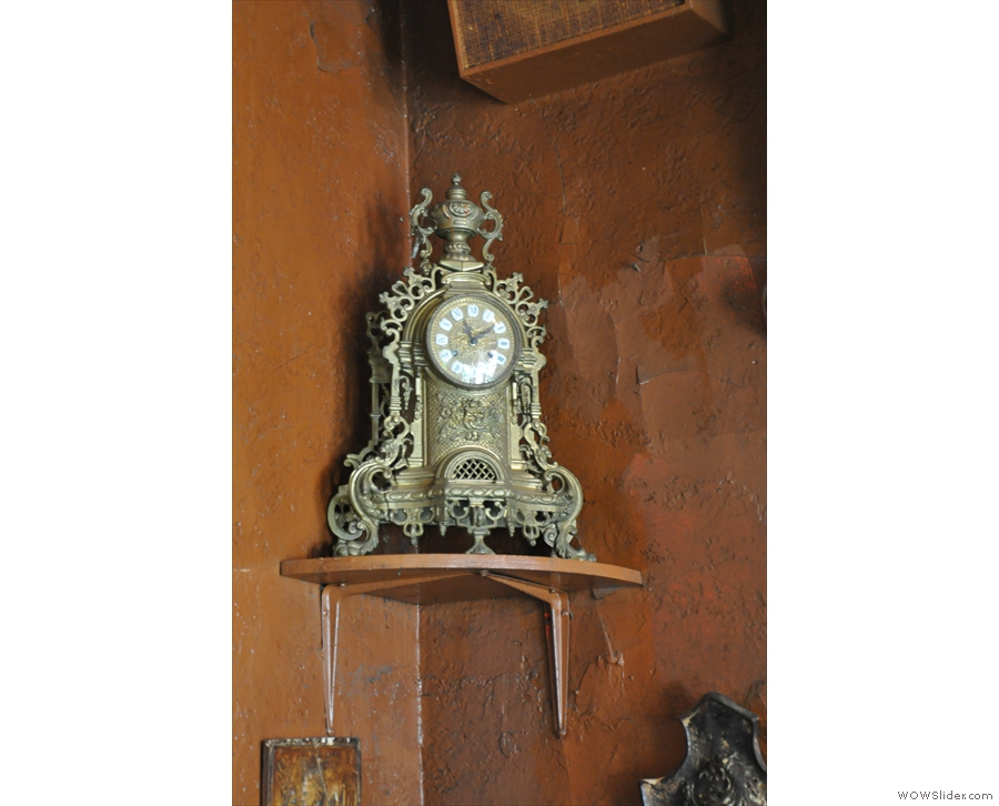 Caffe Reggio is full of interesting nick-nacks, such as this clock.