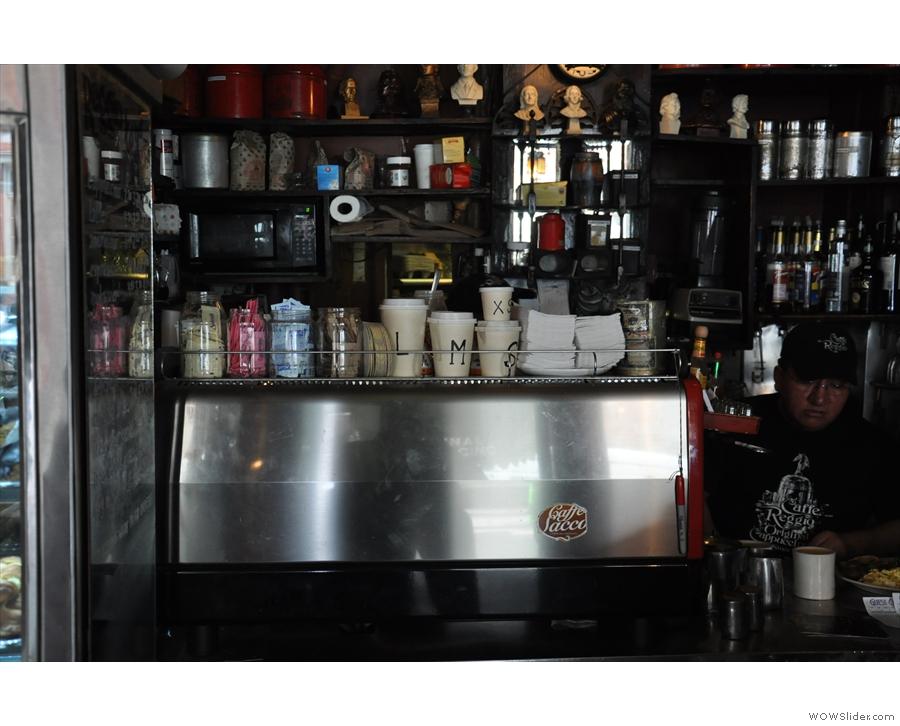 The working espresso machine is slightly more modern.