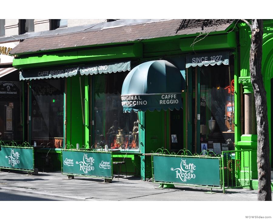 Caffe Reggio on sunny MacDougal Street (from March 2012)...