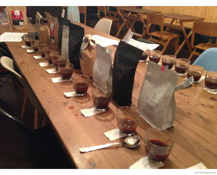 There'll also be lots of cuppings (this was one of Cup North's Kickstarter fundraisers).