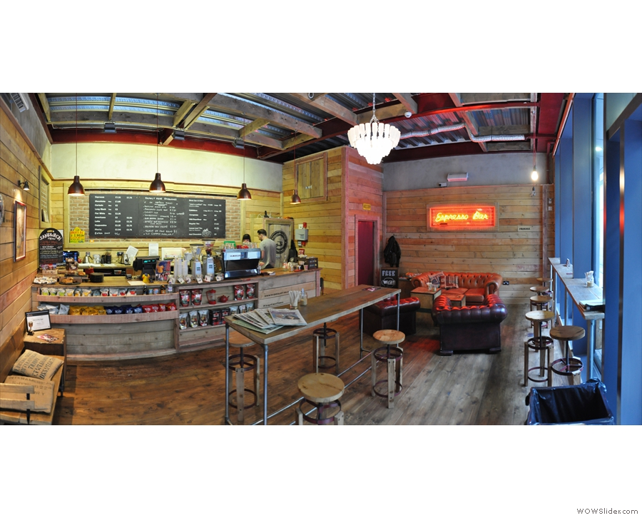 A panoramic view from just inside the door.
