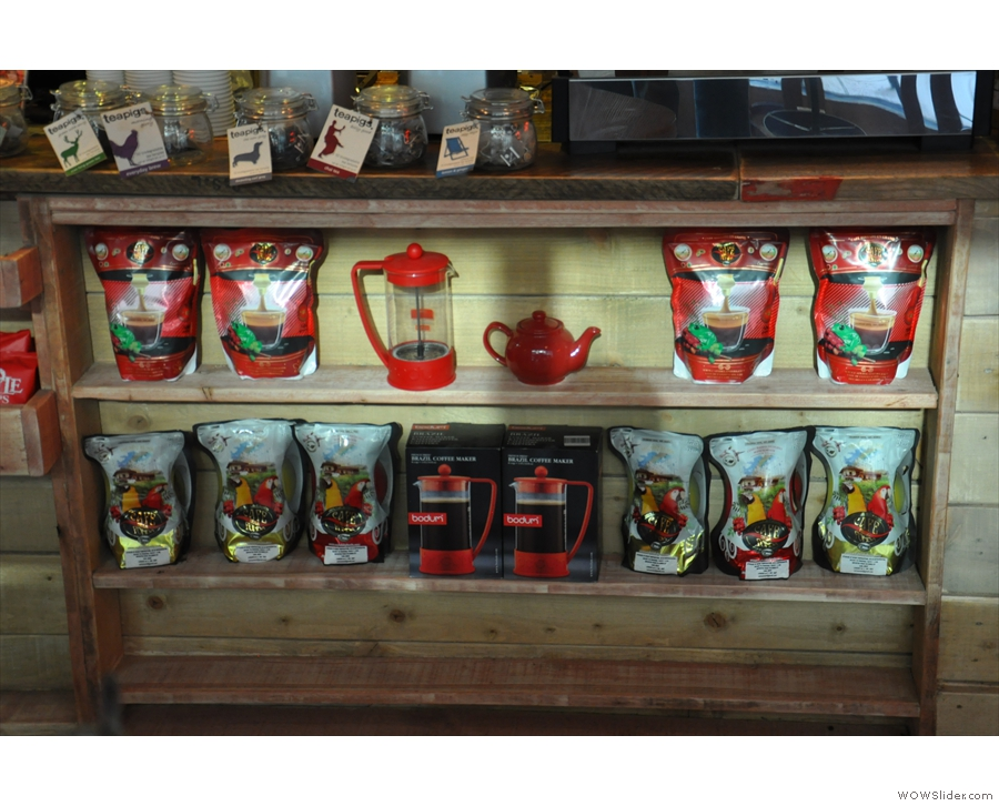 There's also a selection of beans and coffee kit.