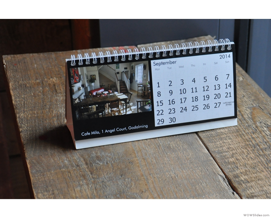 ... and even more dubious taste in calendars!