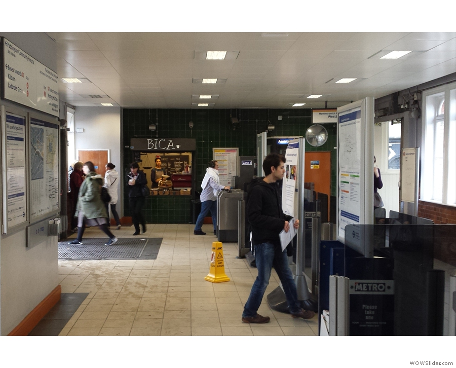 Tucked away in a corner of the station concourse at Westbourne Park is...