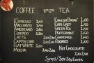 So, to business. There's an impressive espresso-based coffee menu, plus a range of tea.
