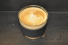 My lovely (decaf) flat white in my equally lovely JOCO Cup.