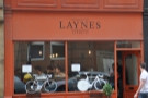 Laynes Espresso, cutting a striking figure on New Station Street.