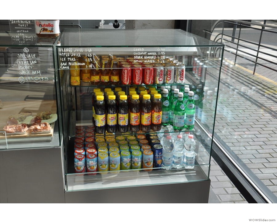 Even the cold drinks chilller is well-stocked!