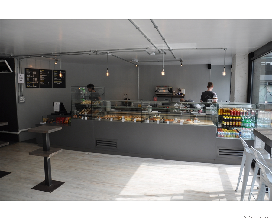 The food counter, to the right as you come in.