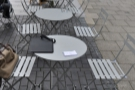 More of the outdoor tables at La Bottega Milanese.