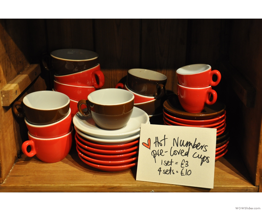 September: pre-loved cups from Hot Numbers, Cambridge