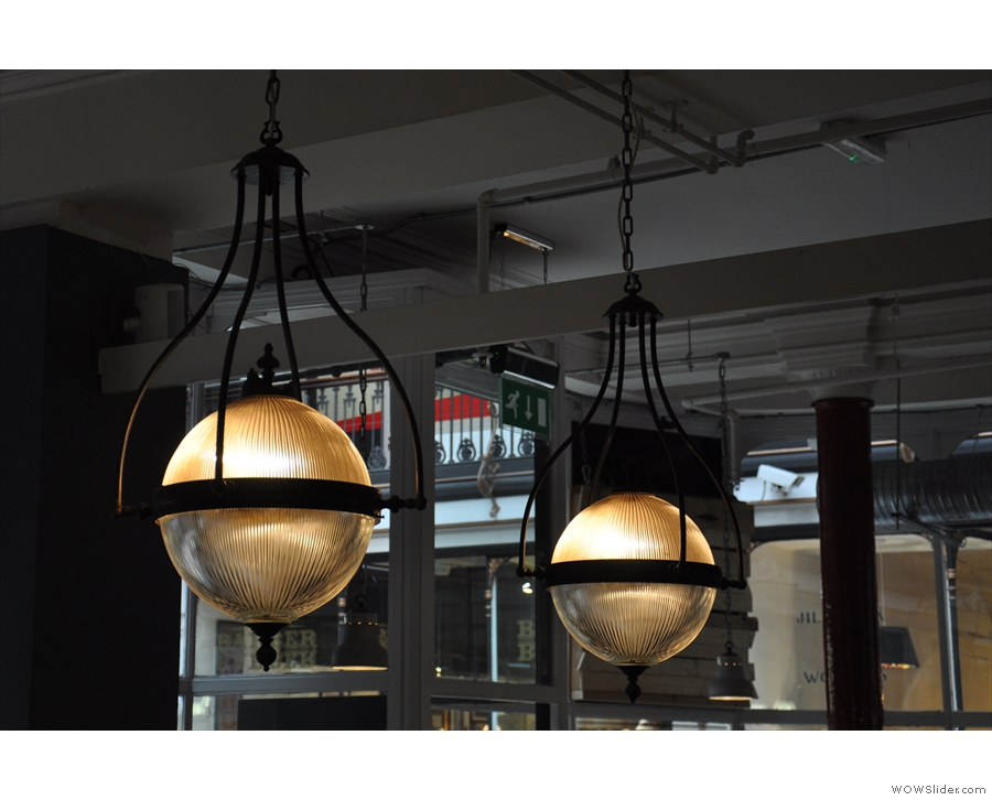 I loved the lights in PKB. These two, above the big communal table, were my favourites.