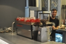 Don't you just love it when baristas pose for pictures? Hang on, mate, you're out of focus!
