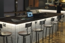 An alternative view of the communal table. Look at all the power outlets!