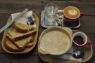 I returned two days later for breakfast. Porridge, toast and a decaf flat white.
