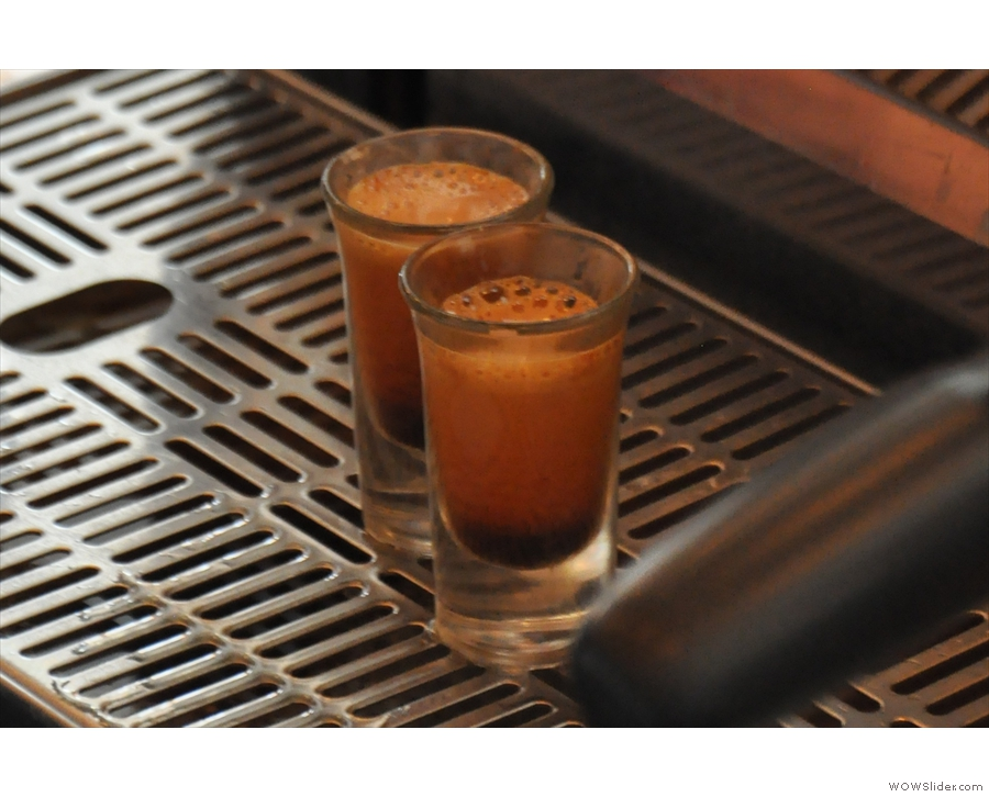 One advantage of glass is you really can see the crema developing as the espresso is made.