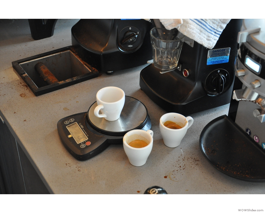There was a lot of dialling-in of the guest espresso while I was there.
