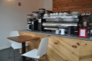 Back to the seating, I can't help thinking this is a noisy option, right next to the grinders.