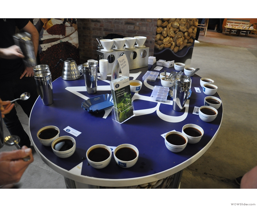 I attended a couple of cuppings at Cup North. The first was DR Wakefield.