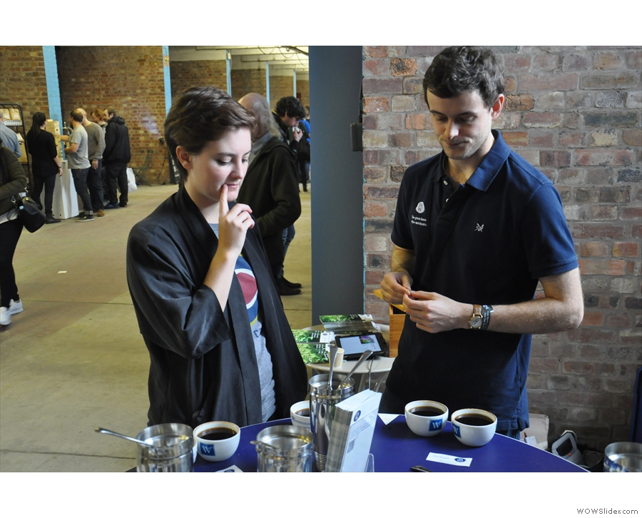 Here fellow-blogger, Kate, and old friend Henry, now with DR Wakefield, talk cupping.