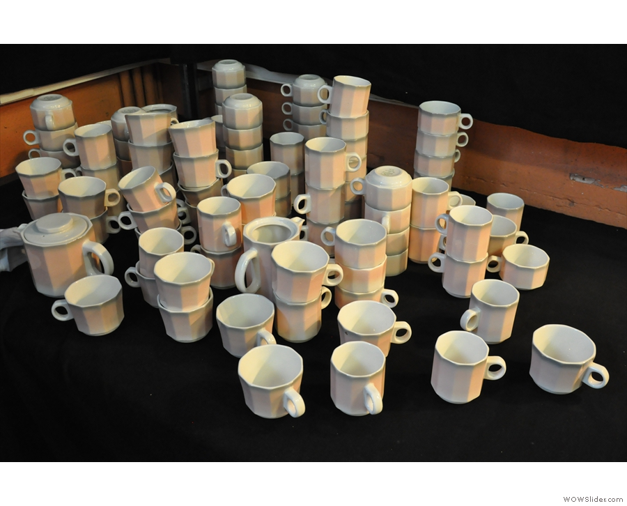 Cup North had been given a lot of coffee cups in an 'interesting'm shade of pink...