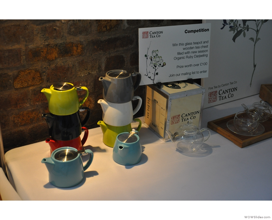 And the cute tea pots were, well, cute.