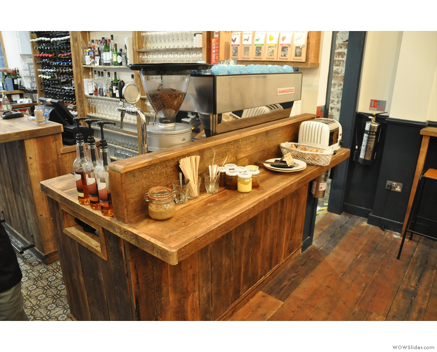 Talking of which, this is the breakfast bar, right by the espresso machine.