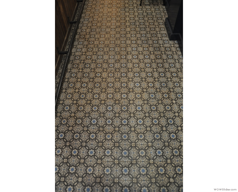 As are the tiles on the floor.