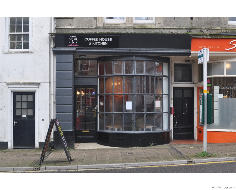 Number 35 Coffee House & Kitchen on Dorchester's West High Street.