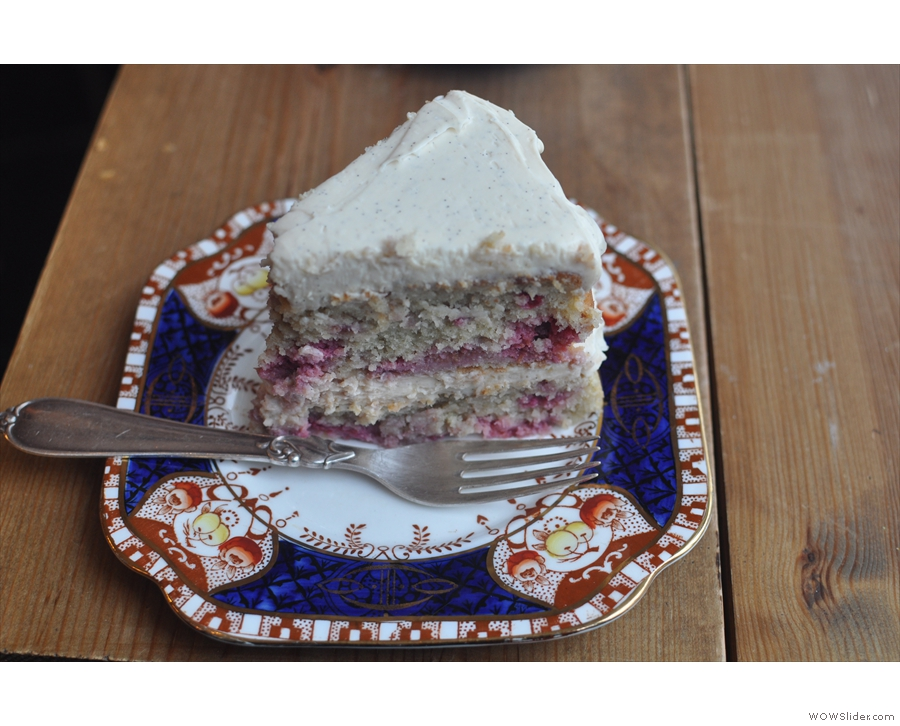 ... then cake (raspberry & almond).