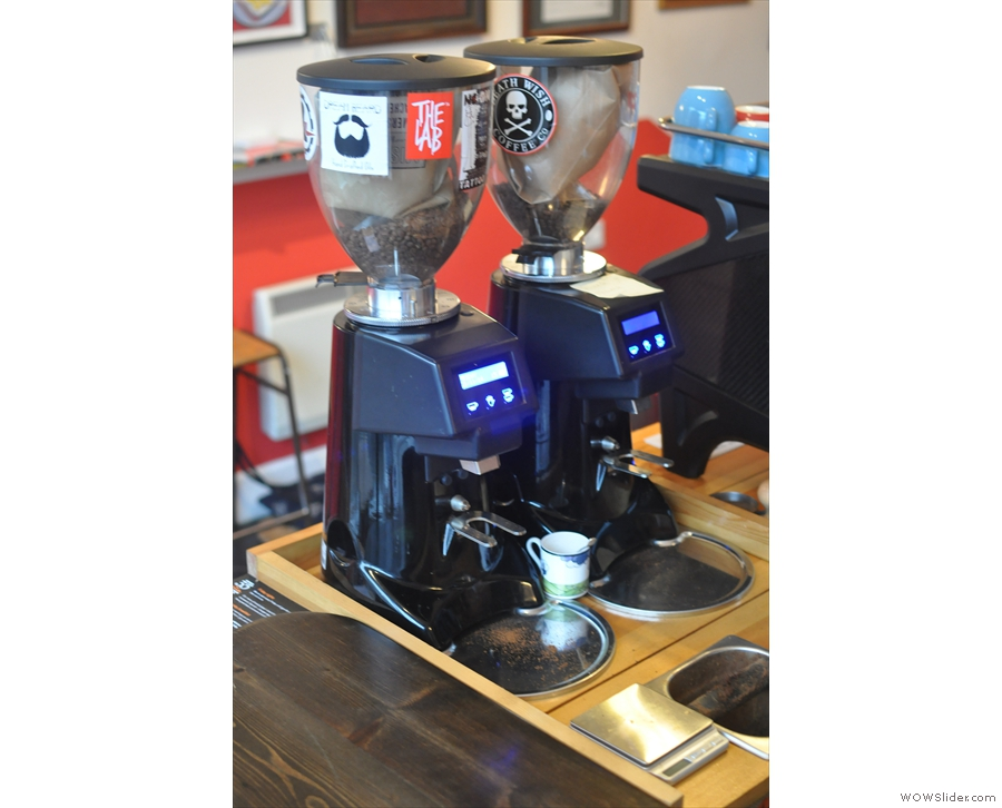 ... and the two espresso grinders.
