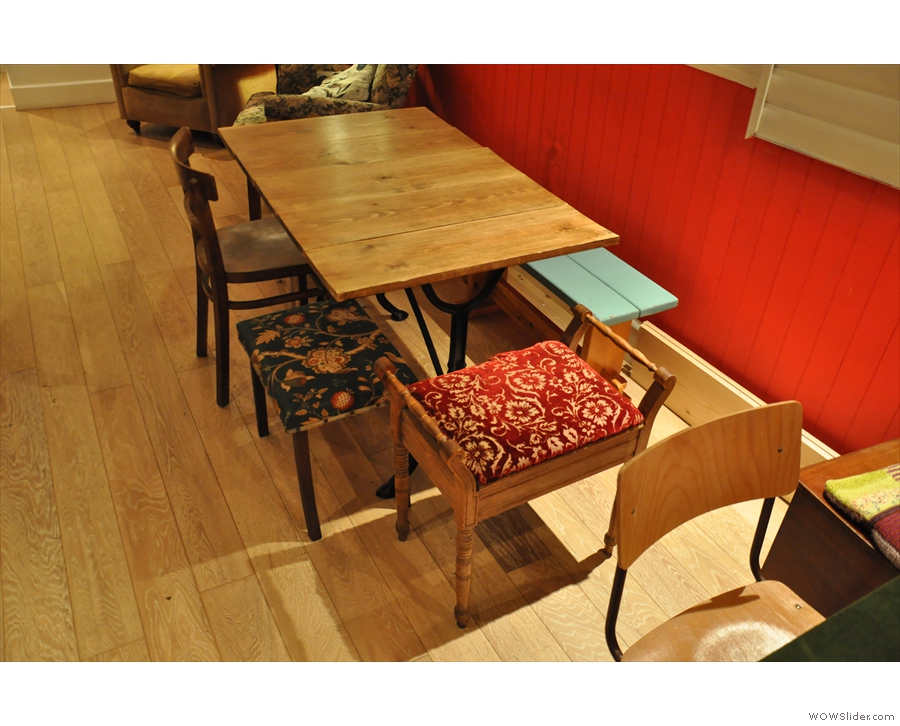 Although there are stools as well.