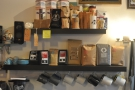 The coffee shelf.