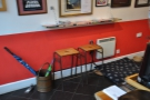 The little bar opposite the counter in more detail.