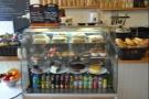 Soup, salad, panini, soft drinks and cake!