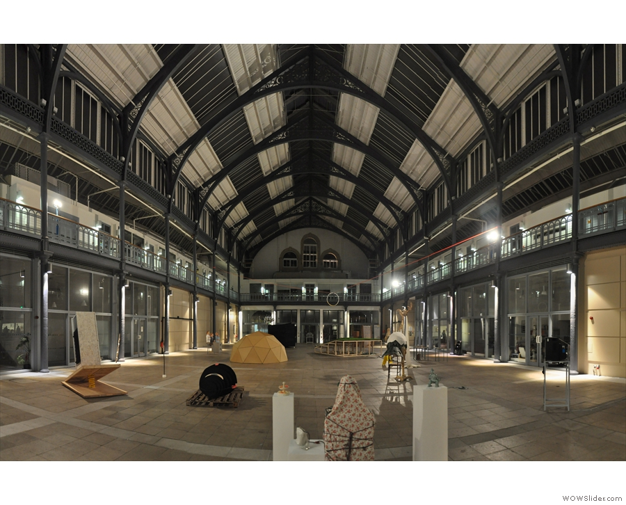 A sneak preview of The Briggait, the hall that's hosting the festival. It looks awesome!