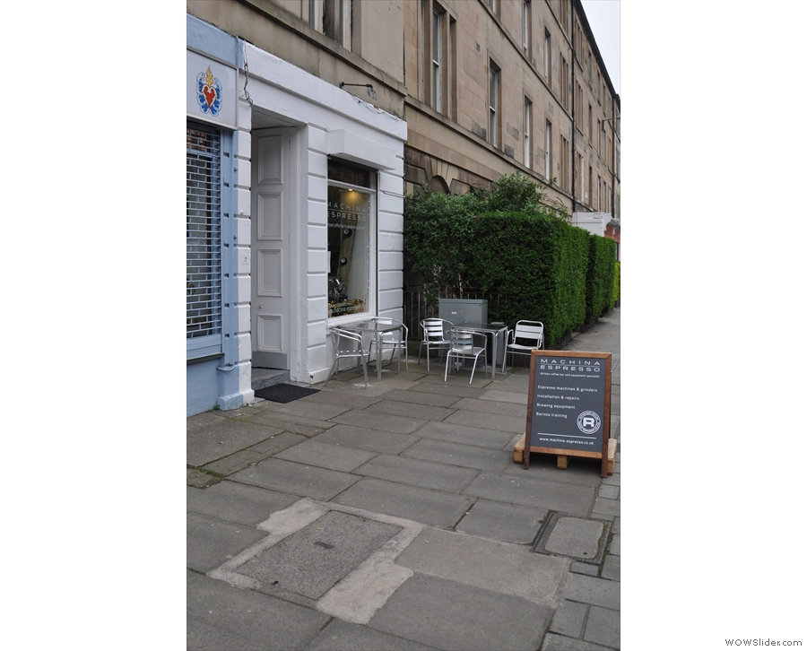 Machina Espresso on Edinburgh's Brougham Place, just off the Meadows.
