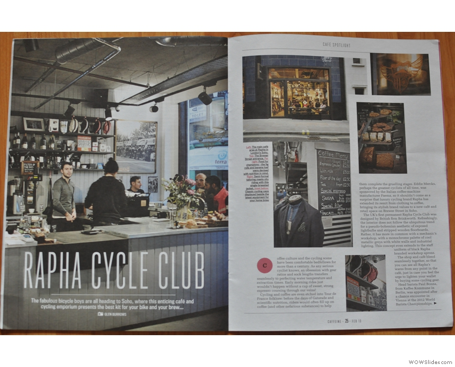 The Rapha Cycle Club from Issue 1.