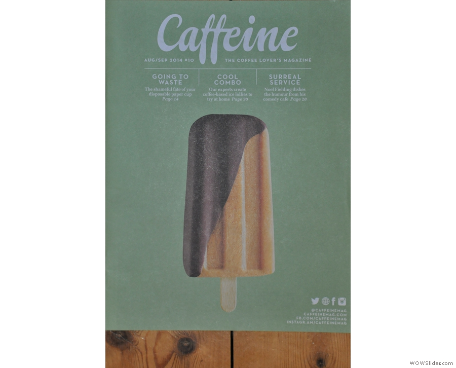 Caffeine Magazine reaches double figures with Issue 10! Looking cool on the front cover.