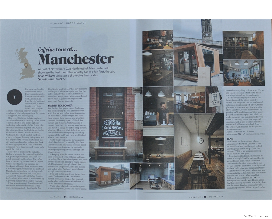 As ever, Amelia's photos enliven my feature. It's the turn of Manchester, home of Cup North!
