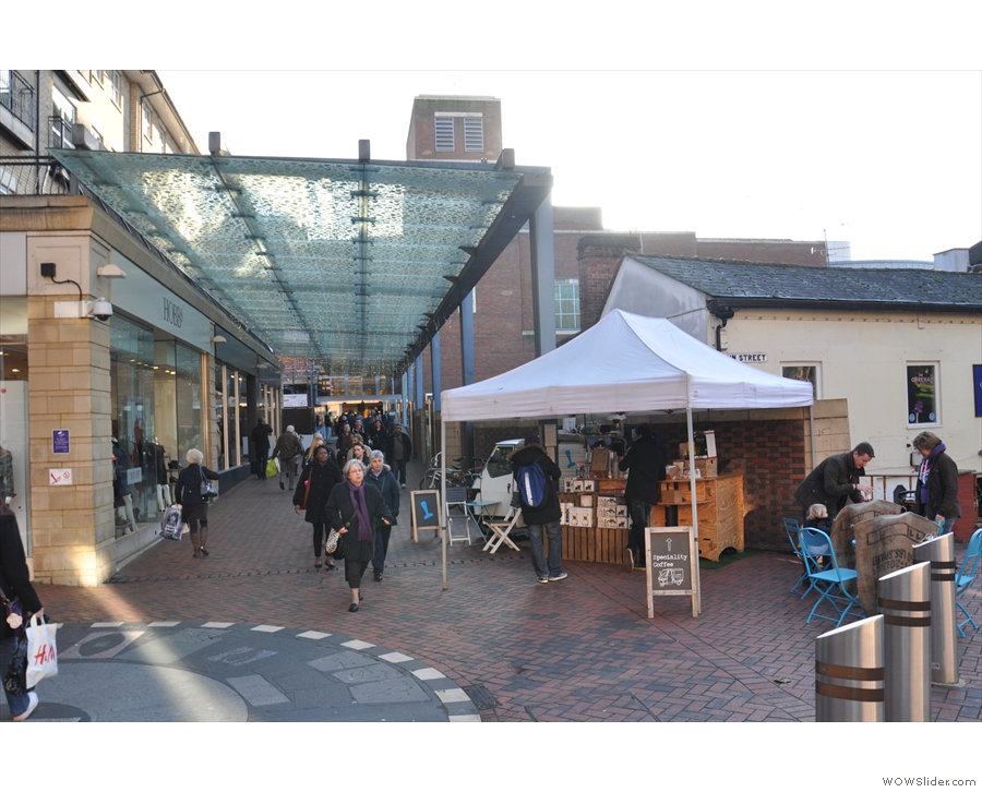 In the centre of Reading, just outside the Oracle shopping centre, you'll find Tamp Culture.