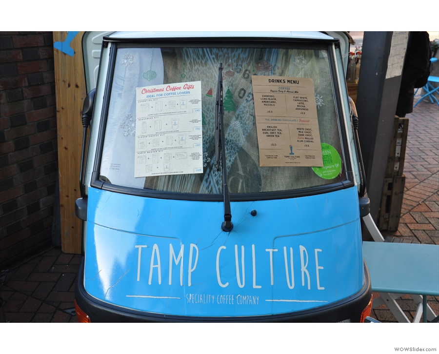 Technically, Tamp Culture is mobile, but this Piaggio Ape's not going anywhere!