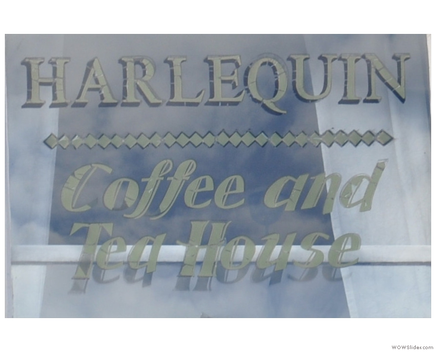 Harlequin Coffee and Tea House, speciality coffee masquerading as a cosy tea room in York.