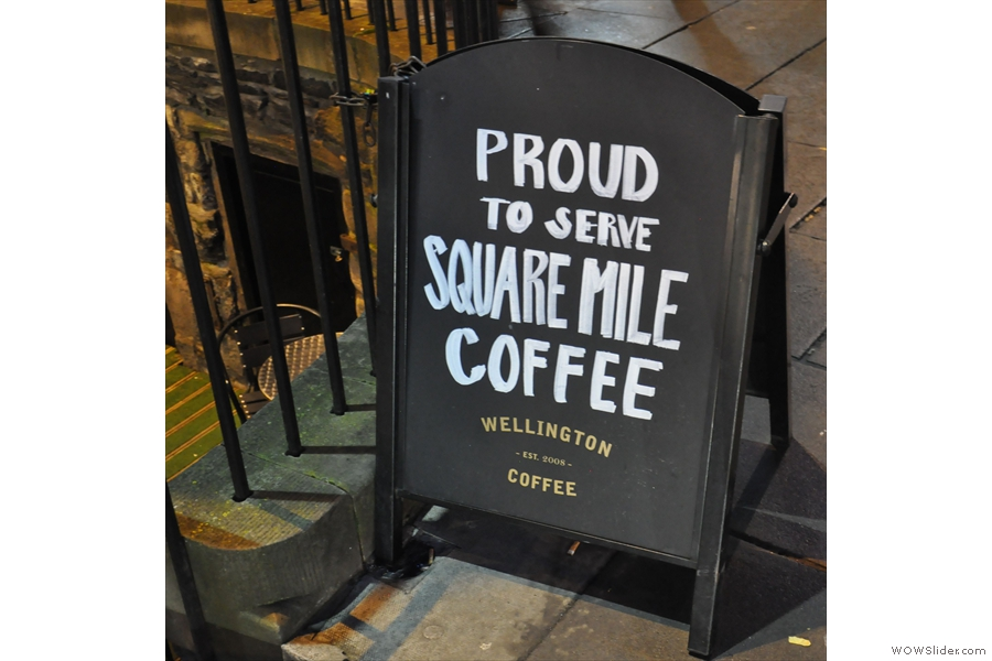 Quite right too: Wellington Coffee is not afraid to show its allegiences.