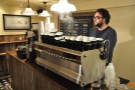 And here is the espresso machine hard at work!