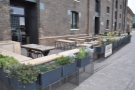 The glorious outdoor seating area at Caravan King's Cross, ideal in the summer.